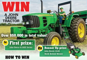 Bauer Media – WIN a John Deere 6100D ROPS Utility Tractor valued at more than $50,000