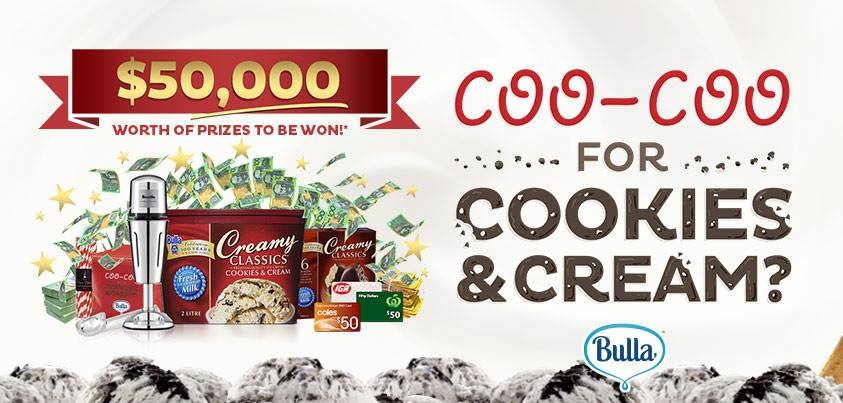 Bulla Family Dairy – Win various prizes instantly or major prize of $20,000