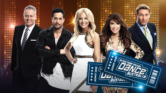 Channel Ten – Win 5 double passes every week to live recordings of So You Think You Can Dance in Sydney