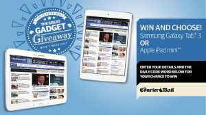 Courier Mail/Sunday Mail – Win Tablets daily (Samsung Galaxy Tab 3 or Applie iPad mini)