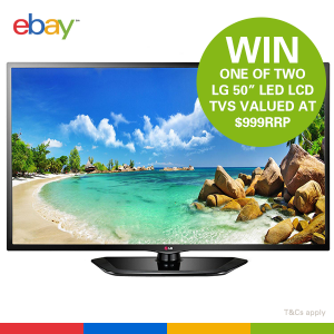 eBay – Win one of two LG 50″ LED LCD TVs valued at $999