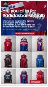 Footlocker – Win $500 Adidas NBA Basketball prize pack