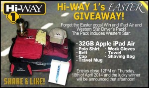 Hi-Way 1 Truck Centres – Win 32GB APPLE IPAD AIR