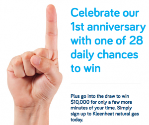 Kleenheat Gas – Win $10,000, plus 28 daily prizes of $500