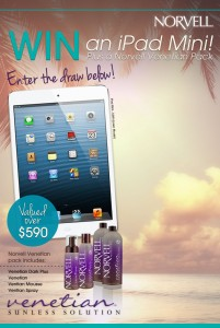 Norvell Tanning – Win iPad mini plus tanning pack valued over $590