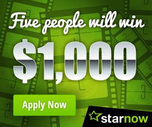 StarNow is Giving Away $5,000 – Win $1,000 Cash