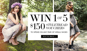 Styletread – Verali Shoes – Win 1 of 5 $150 vouchers
