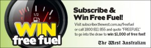 The West Australian – SUBSCRIBE & WIN FREE FUEL – 10 x $500 Caltex gift cards
