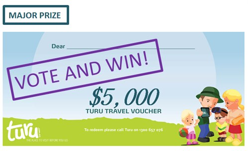 Turu Vote to win $10,000 Turu Travel Voucher