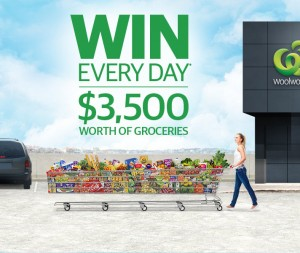 Woolworths/News Corporation newspapers Win a Share of $100,000 in groceries ($3,500 everyday)