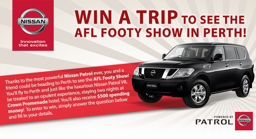 Jump-in – AFL Footy Show – Win a trip to Perth 2014