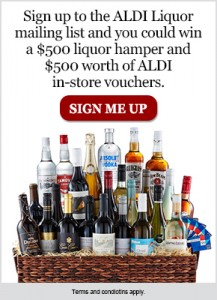 Aldi Liquor – Win $500 Liquor Hamper & $500 Worth of ALDI Instore Vouchers