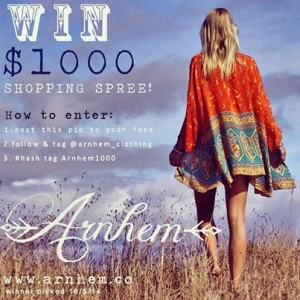 Arhem Clothing Byron Bay – Win $1,000 shopping spree