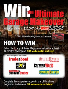 Bauer Media Magazines – Win the Ultimate Garage Makeover