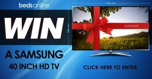 Beds Online – Win a Samsung 40 Inch TV