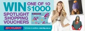 Better Homes and Gardens – Win 1 of 10 $1K Spotlight Vouchers