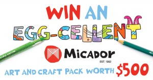 Big W – Micador – Win an EGG-CELLENT Micador Art and Craft Pack worth $500 – Colouring Competition