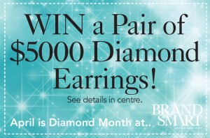 Brandsmart  – Win a Pair of $5000 Diamond Earrings