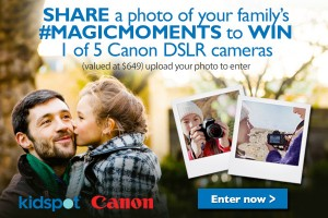 Kidspot – WIN 1 of 5 Canon DSLR cameras