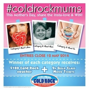 Cold Rock – Win $100 voucher + gold class tickes