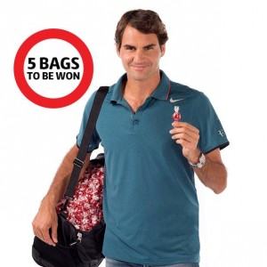 Coles – Win 1 of 5 bags signed by Roger Federer filled with Lindt Lindor Strawberries and Cream balls