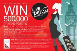 David Jones – Win 500,000 Qantas FF Points
