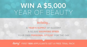 Elucent – Win a $5,000 year of beauty