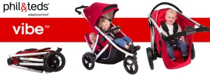 Essential Baby – win a Phil & Teds Vibe and Double Kit (Inline Stroller)