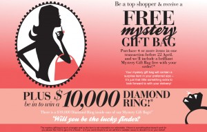 Ezibuy – Win a $10,000 diamond ring (purchase 4 items)