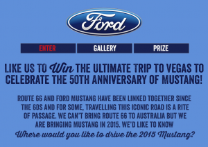 Ford Australia – Win a trip to Las Vegas 2014