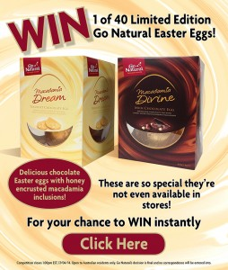 Go Natural – Instant win 1 of 40 Limited Edition Go Natural Easter Eggs