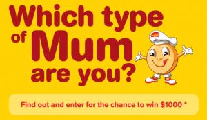 Golden Crumpets – Win $1,000 Cash – Which Type of Mum Quiz