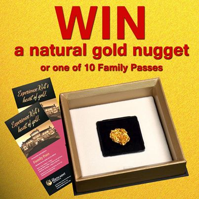 Perth mint – Win a natural Gold Nugget or 1 of 10 family passes