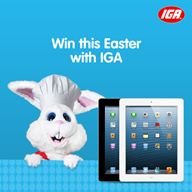IGA – Win Weekly Prize with Easter 2014 Recipe Competition