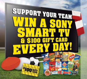 IGA/Supa IGA/Foodland – Win Sony Smart TV and $100 IGA Gift Card Daily