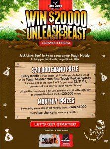 Jack Link's Beef Jerky – Win $20K or $1K – Tough Mudder Competition