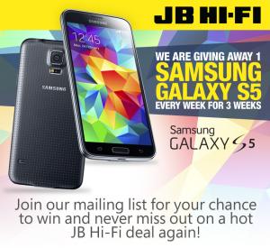 JB Hi Fi – Win 1 of 3 Samsung Galaxy 5 phones