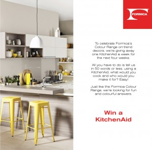 Laminex Facebook – Win a KitchenAid KSM150, valued at $699