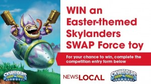 Newslocal – Win 1 of 100 limited edition Easter themed Skylanders Swap Force Toys