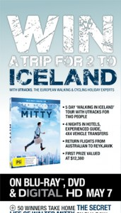 Paddy Pallin – Win a trip to Iceland 2014 or Walter Mitty on Blu-ray