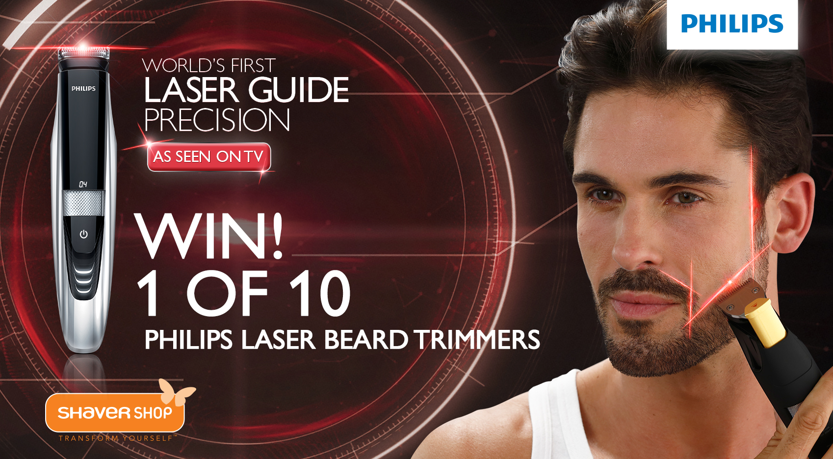 shaver shop win 1 of 10 philips laser beard trimmers australian competitions. Black Bedroom Furniture Sets. Home Design Ideas