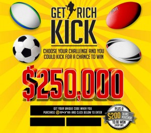 Skins – Win $250,000 – Kick to win