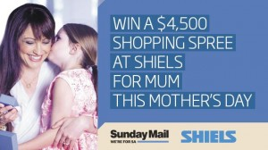 Sunday Mail – Win a $4,500 Shiels Jewellers Voucher For Mum This Mother's Day