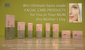 SwissJust – Win Ultimate Swiss made Facial Care Products for you and your mum this Mother's Day