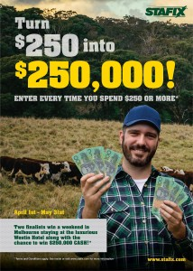 Tru-Test – Win $250K (Purchase $250 or more Stafix, Hayes or Patriot electric fence)