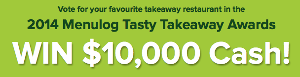 Menulog – Vote for favourite restaurant to win $10,000 vouchers