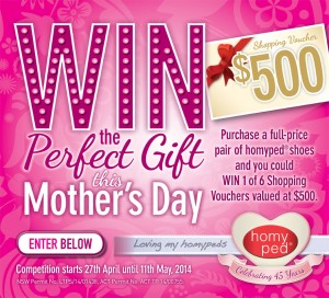 Homyped – Win The Perfect Gift This Mother's Day 2014