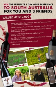 Dan Murphys – Win a 5 day Wine experience to South Australian for 4 people