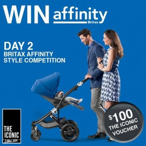 Britax Australia – Win a Britax Affinity stroller in Cool Berry and a $100 THE ICONIC voucher