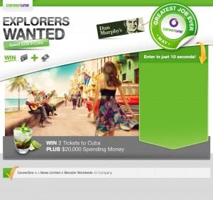 CareerOne – Win 2 Tickets to Cuba plus $20,000 spending money